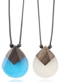 Accessories new solid wood resin pendant national style pendant handmade fashion men and women gift sweater chain