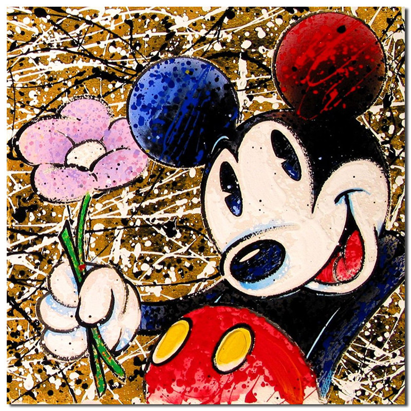 Image 3 - Mickey Mouse Graffiti Minimalist Wall Art Canvas Poster And Print Canvas Painting Oil Decorative Picture For Bedroom Home Decor-in Painting & Calligraphy from Home & Garden