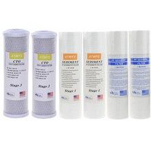 Buy ATWFS Water Filter Cartridge 2pcs 5Micron PPF Cotton+ 2pcs 1Micron PPF Cotton+ 2 pcs Activated Carbon Reverse Osmosis System
