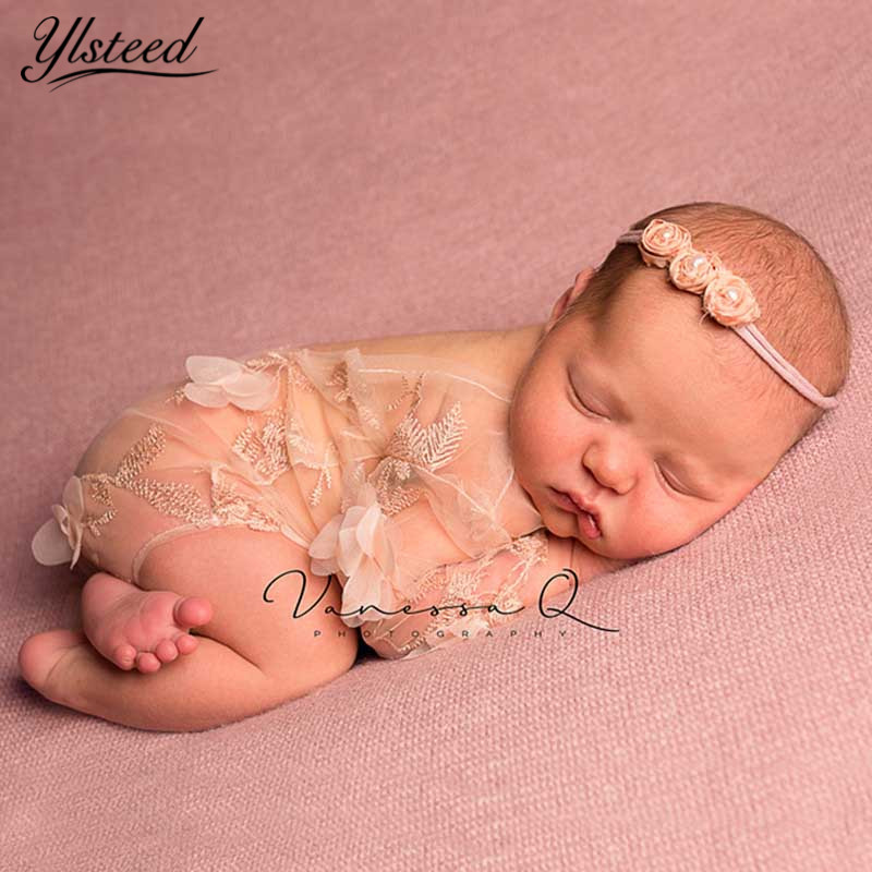 Baby Photography Props Newborn Photo Shooting Clothes Mesh Embroidery Floral Lace Romper Infant Shooting Outfit Baby Shower Gift newest newborn photography props baby romper studio photography accessories lace romper back tie girls outfit baby girl lace