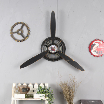 Loft Industrial Wind Aircraft Propeller Metal Wall Decor Decoration Wall Decorations Pendant Hanging Ornaments Crafts