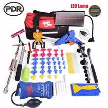 PDR Авто Ремонт набор инструментов Инструменты для ремонта вмятин на автомобиле комплект Дент удаления вмятин Paintless дентинг Air светодиодный светодиодные лампы DIY ручные инст