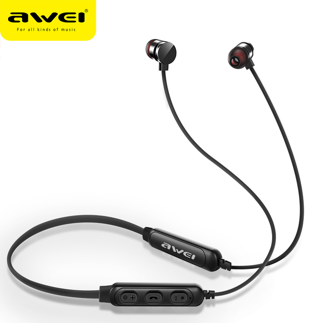 AWEI T11S Bluetooth Earphone Headphone Wireless Headset With Mic Neckband 3D Bass Stereo Sport Earbuds for Phone fone de ouvido