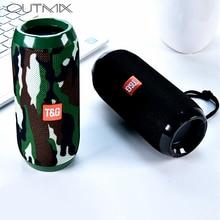 цена TG117 Portable Column Speaker Waterproof Bluetooth Speaker Outdoor Bicycle Subwoofer Bass Wireless Boom Box Loudspeaker FM TF