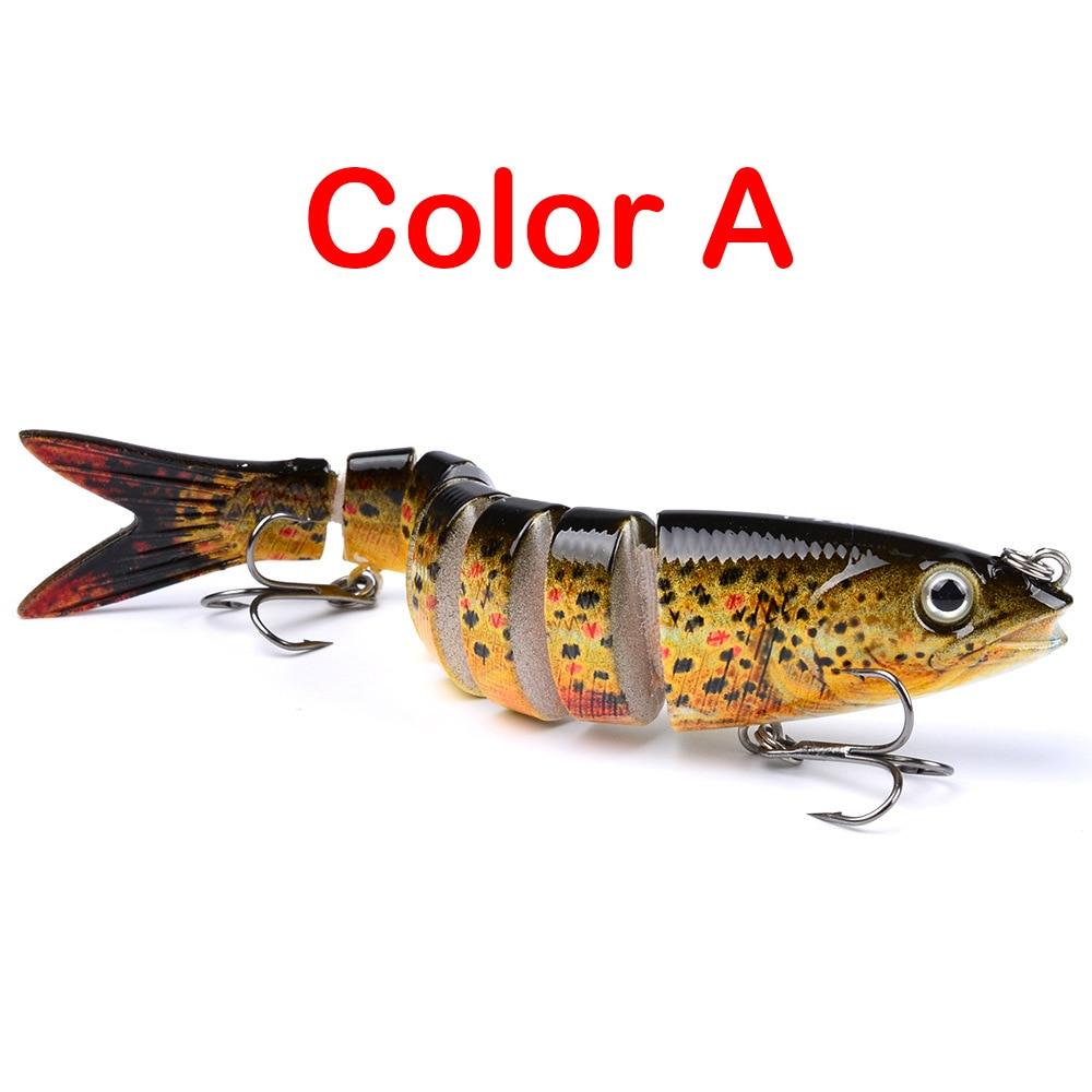 1PCS  5/8-Ounce 5-Inch 8 Segment Swimbait Lures Crankbaits Baits Hard Bait Fishing Lures