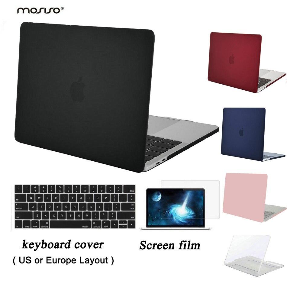 где купить MOSISO Clear Matte Case New Pro 13 A1989/A1708/A1706 Touch Bar 2016-2018 Laptop Plastic Hard Case for Macbook Pro 15 A1707 A1990 по лучшей цене