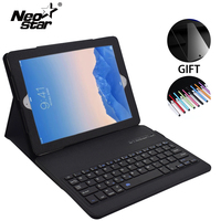 For IPad Air 2 For IPad 5 6 Removable Wireless Bluetooth Keyboard Leather Case Stand With