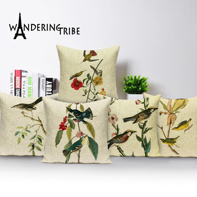 Aliexpress Buy Decorative Pillows Birds Outdoor Cushions Custom Affordable Decorative Pillows
