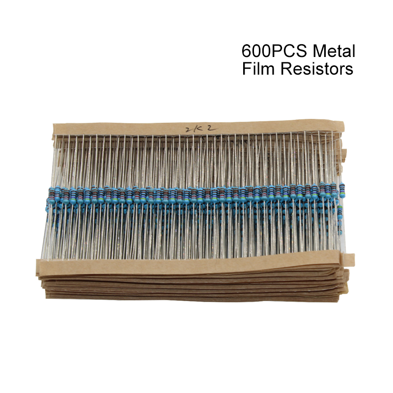 600pcs pack 1 4W 30 Kind Metal Film Resistors Assorted kit 1 Each 20 600pcs pack