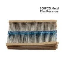 600 шт./упак. 1/4 Вт 30 Вид Металлические Пленочные Резисторы Ассорти комплект 1% Каждый 20 600 шт./упак., для arduino для raspberry pi, доска комплект