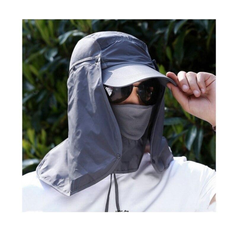 Unisex Anti UV Sunshade Fishing font b Hat b font Cap UV Protection font b Sun
