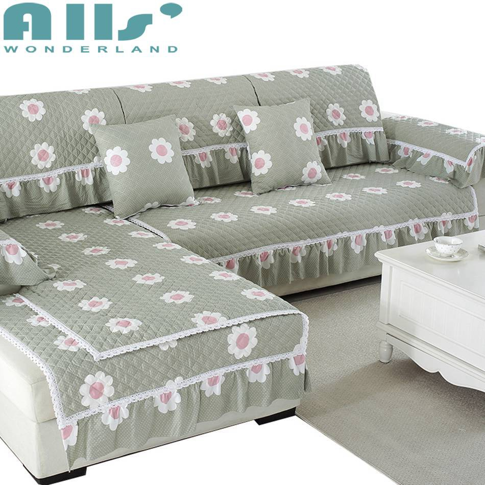 Sectional Corner Couch Couch And Chair Cover Flower Pattern Sectional Sofa Cover Washed Cotton Reclining Chair Fabric Corner Sofa Lace Slipcover