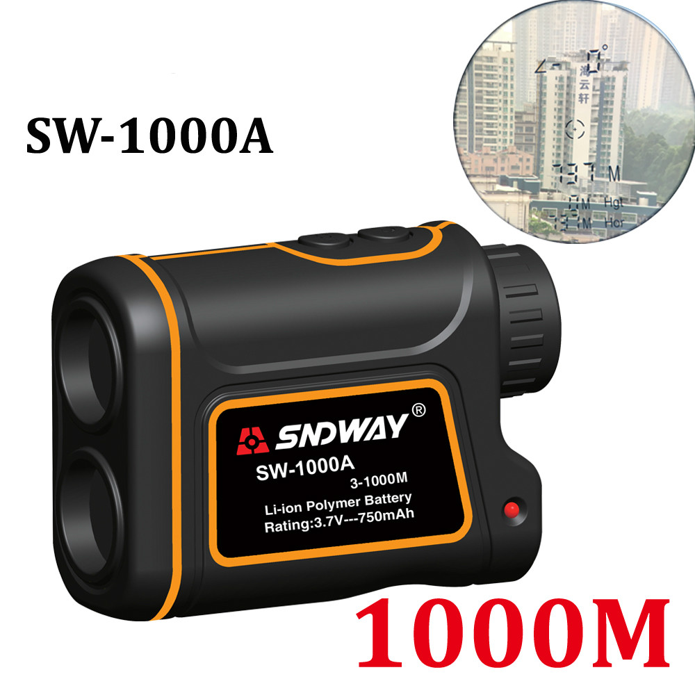 Telescope Laser Rangefinder 1000m Laser Distance Meter 8X Monocular Golf Hunting Laser Range Finder Tape Measure