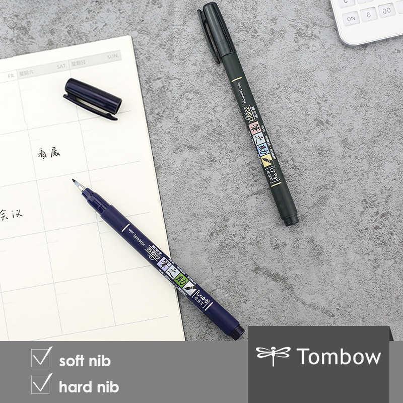 1pc/set TOMBOW japan Calligraphy brush pen Practise zig calligraphy pen marker pen scriptliner School supplies stationery