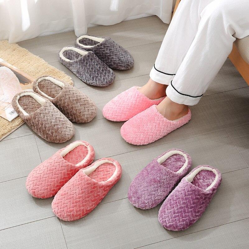 Women Cotton Cartoon Panda Indoor Soft Slippers Home Comfortable Bottom Shoes