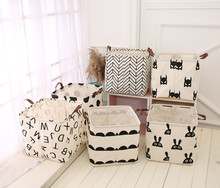 1PC Bedroom  Foldable Laundry Basket Storage Barrels for Kids Toys Sundries Organizer Bag