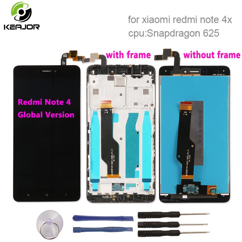 For Xiaomi Redmi Note 4X LCD Display+Touch Screen 1920X1080 FHD Panel For Xiaomi Redmi Note 4 Global Version Snapdragon 625