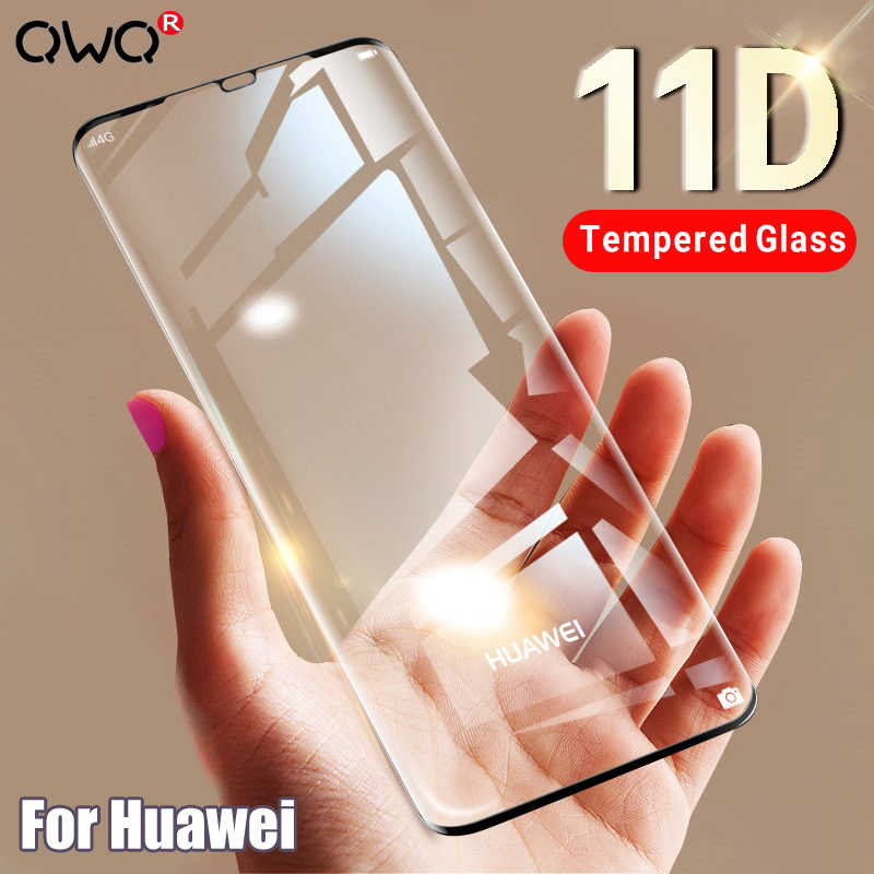 11D Full Cover Tempered Glass For Huawei P30 Pro P20 Lite P Smart 2019 Screen Protector Film For Mate 20 Pro 10 Lite Glass