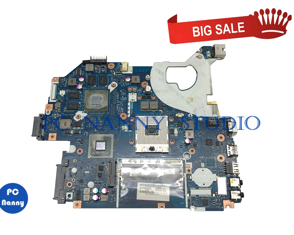 PCNANNY MBRCG02007 For Acer 5750G 5755G 5750 laptop motherboard P5WE0 LA-6901P HM65 DDR3 tested image