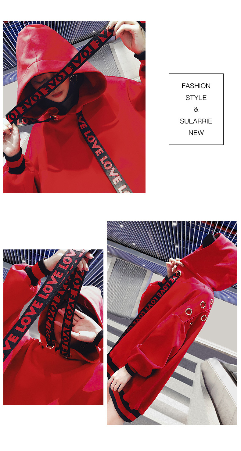 kpop Blackpink 2019 autumn red Medium and long section hoodies women exo korean loose hooded Harajuku sweatshirts female clothes in Hoodies amp Sweatshirts from Women 39 s Clothing