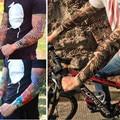 Fashion Women Men 2Pc Cool Nylon Elastic Fake Temporary Tattoo Sleeve Brace Support Seamless Arm Tattoos Stockings Outdoor Equip