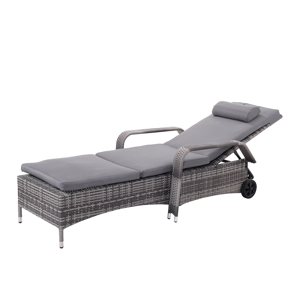 White Plastic Sun Loungers Aluminum Chaise Lounge Chair
