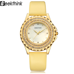 font b geekthink b font luxury quartz watch woman gold fashion casual analog leather wristwatch.jpg 250x250