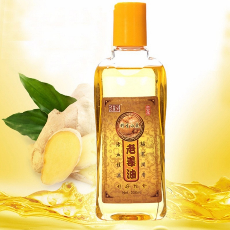 Hot Sale Pure Plant Essential Oil Ginger Body Massage Oil 230ml Thermal Body Ginger Essential Oil For Scrape Therapy SPA