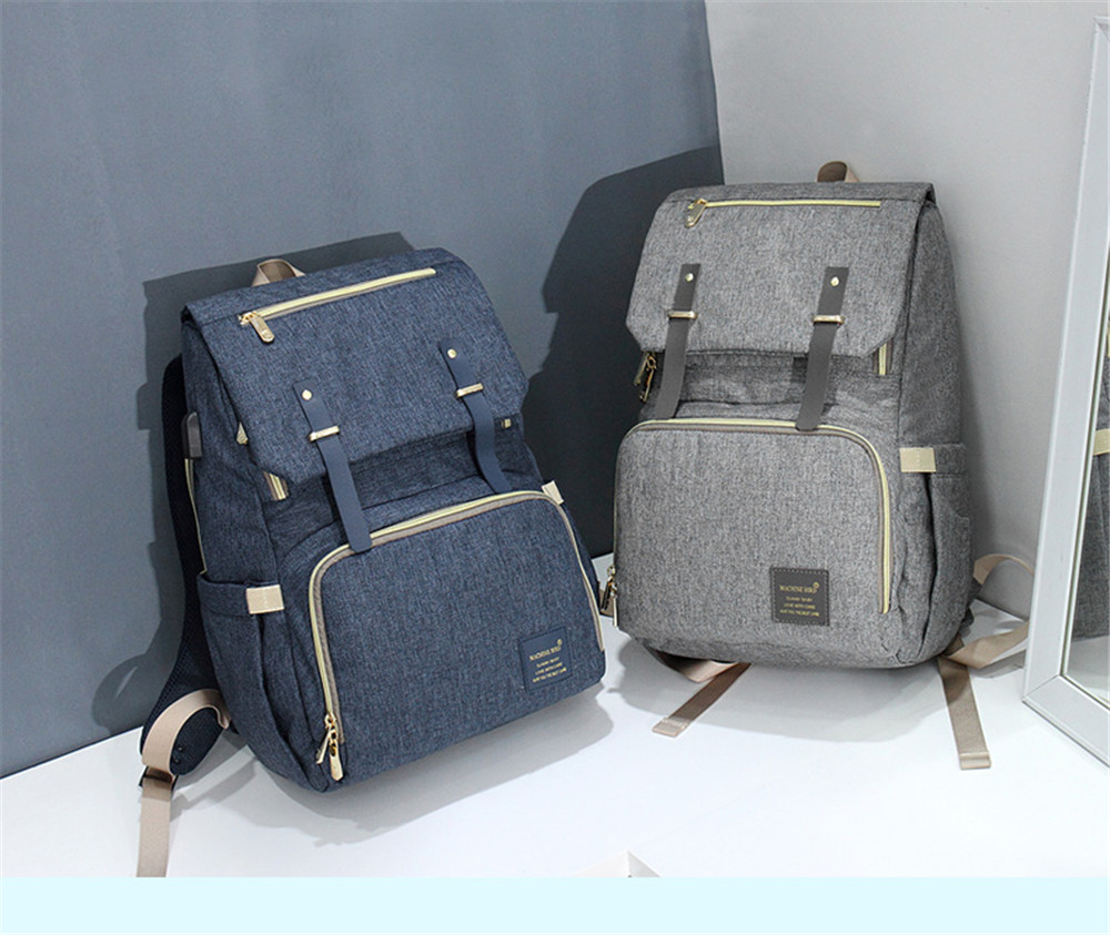 HTB1UykuacfrK1Rjy1Xdq6yemFXaM Fashion Large Capacity Baby Nappy Bag Diaper Bag Purse Multifunction USB Mummy Travel Backpack Women Nursing Bags For Mom Daddy