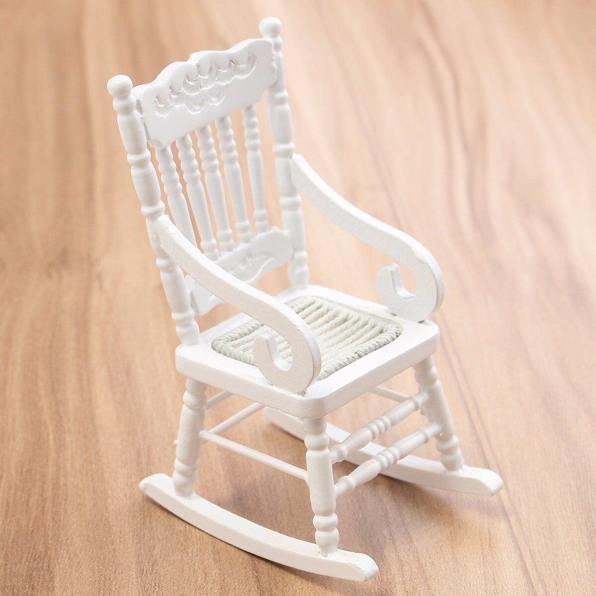 New 1:12 Dollhouse Miniature Furniture White Wooden