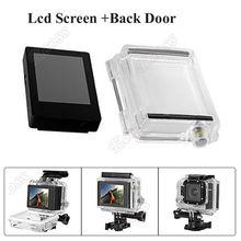 Envío de la Nueva Llegada gopro héroe 3 3 + 4 LCD de La Cámara Bacpac Visor Pantalla W/Backdoor para GoPro Hero3 3 4 + Cámara accesorios