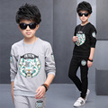 2017 Casual Big Boy Clothes Sets Tiger Print Long Sleeve Shirt + Pants Kids  2pieces Suits Children Clothing