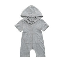365825fbefb0 ARLONEET 2018 Newborn Girl Boy Solid Hooded Romper Jumpsuit Romper Baby  Climbing Clothes 1 to 18 Months Drop Shipping 30S418