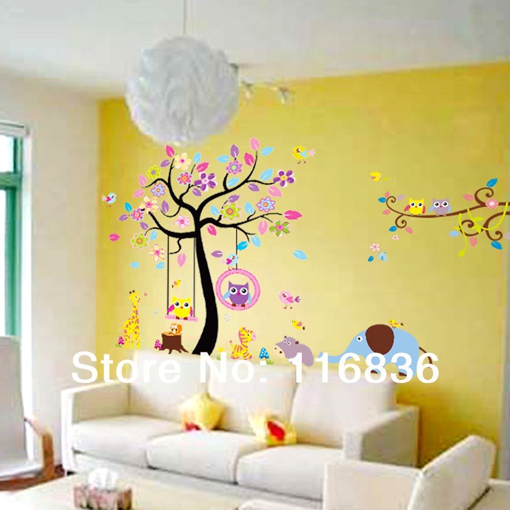 Colorful Tree Wall Decor For Nursery Gallery - The Wall Art ...