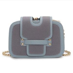 Image 4 - チェーンバッグ韓国語バージョンのすべて一致マッチメッセンジャーバッグファッション多層シングルショルダー小正方形のバッグ