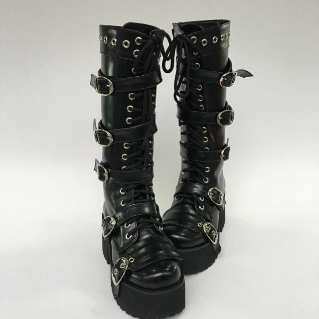 Принцесса сладкий панк обувь Лето Индивидуальные жира ноги на заказ рыцарские сапоги заклепки пряжки ремня ноги и обувь an9243a