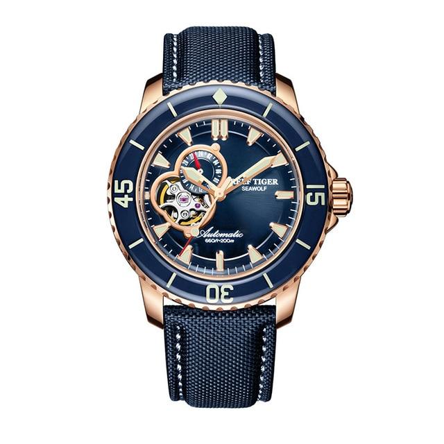 Reef Tiger Aurora Serier RGA3039 Men 200M Waterproof With Super Luminous Hallow-out Dial Automatic Mechanical Wrist Watch триммер для волос hs 3039 hs 3039