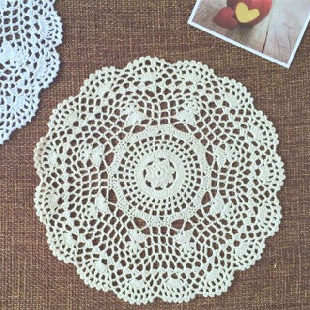 Handarbeit Baumwolle Europa Runde Blume Tischset Shabby Chic Vintage ...