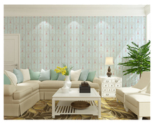 beibehang Three-dimensional warm garden vertical stripes wall paper Bedroom living room background nonwoven fabrics 3d wallpaper