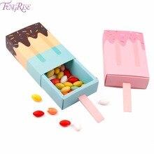 Lody Xmas pudełka na cukierki boże narodzenie torba kraft papier pudełko na popcorn Goodie torby torba prezent dla dzieci Party dobrodziejstw worek na cukierki urodziny Deco