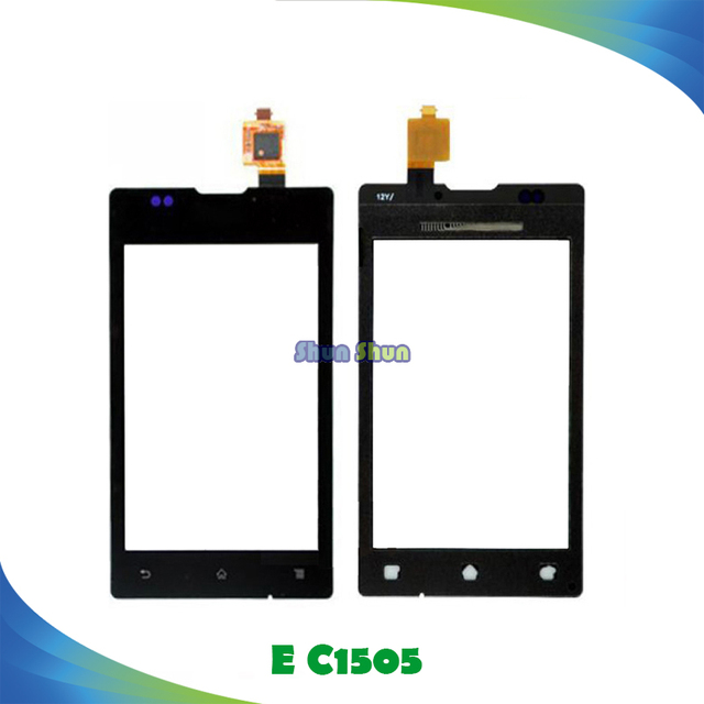 """3.5"""" E Touch Panel for Sony Xperia E C1505 C1504 C1605 C1604 Touch Screen Digitizer Sensor Front Glass Lens Black White"""