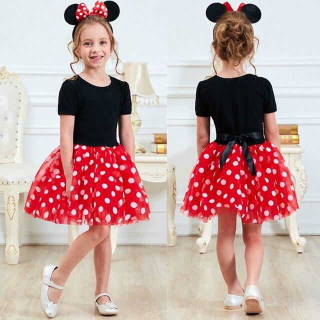 Ưa thích Trẻ Em Dresses cho Cô Gái Đầu Tiên Sinh Nhật Trang Phục Mini Phim Hoạt Hình Chuột Ăn Mặc Trang Phục Bé Gái Trẻ Em Mặc 1 để 5 Năm