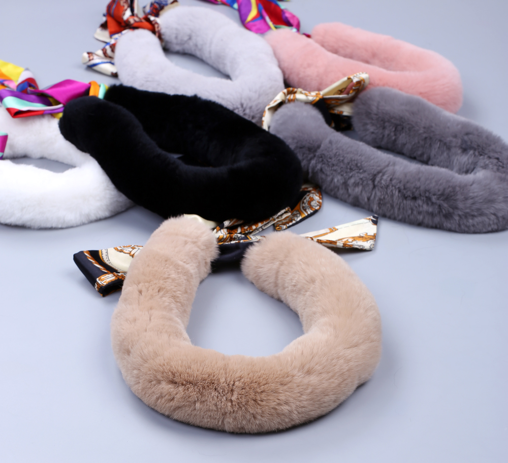 Womens Kids Genuine Real Rex Rabbit Fur Winter   Scarf     Wraps     Scarves   Snoods Korea Japan Style Warm Soft Wholesale Retail Nice