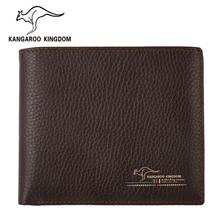 Kangaroo königreich luxus männer brieftaschen aus echtem leder geldbörse berühmte marke schlanke brieftasche