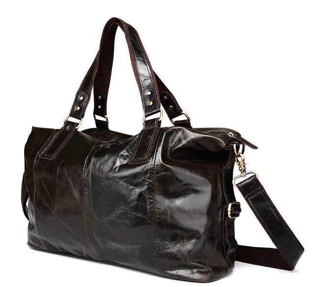 leather men bag, casual shoulder bag, oil wax leather Messenger bag,pinepoxp bag