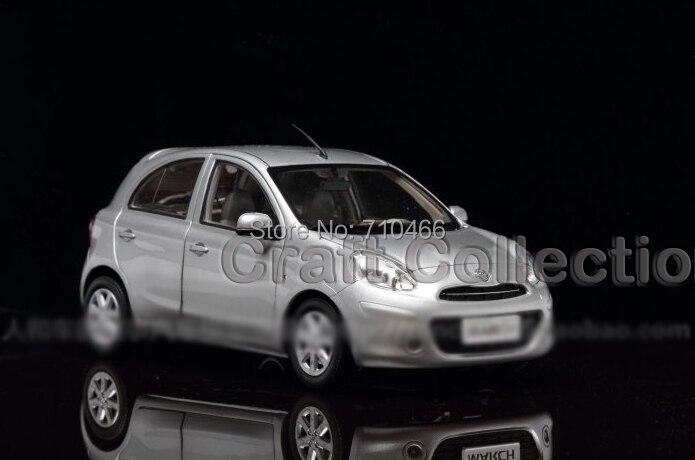 Silver 1:18 Nissan Micra MARCH Hatchback Alloy Model Brinquedos Diecast Model Mini Car  Toys