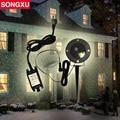 SONGXU Outdoor Garden Decoration Waterproof Laser Light, IP68 Laser Star Projector Showers Christmas Lights Outdoor/SX-RG188