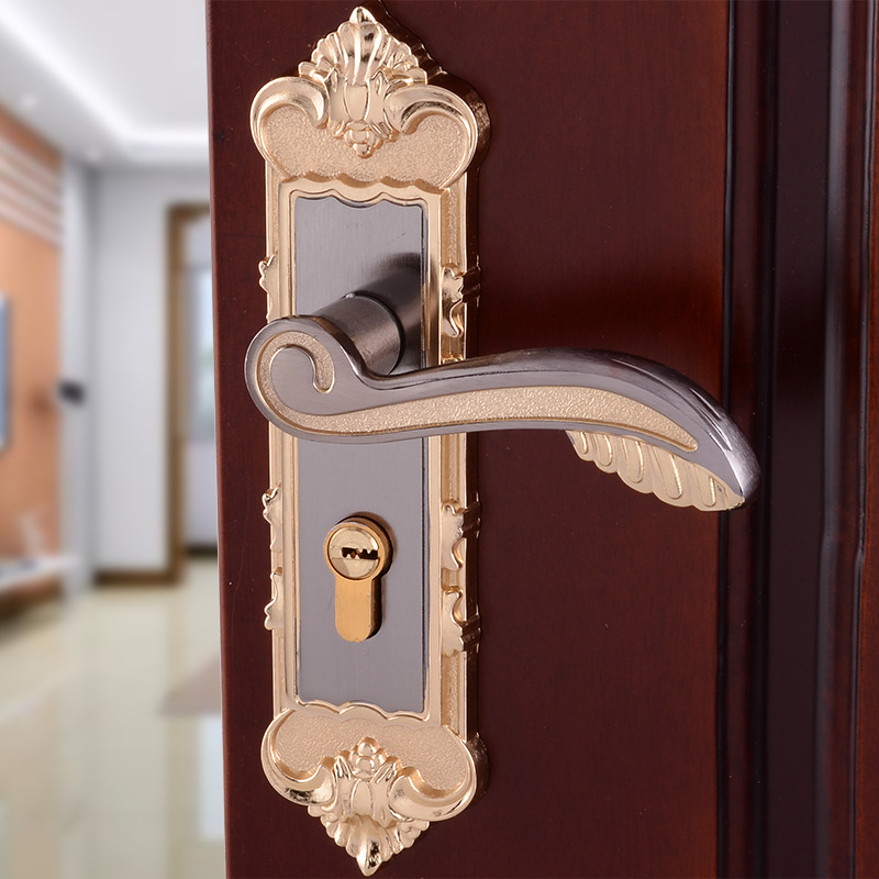 interior bedroom door lock handle lock european style