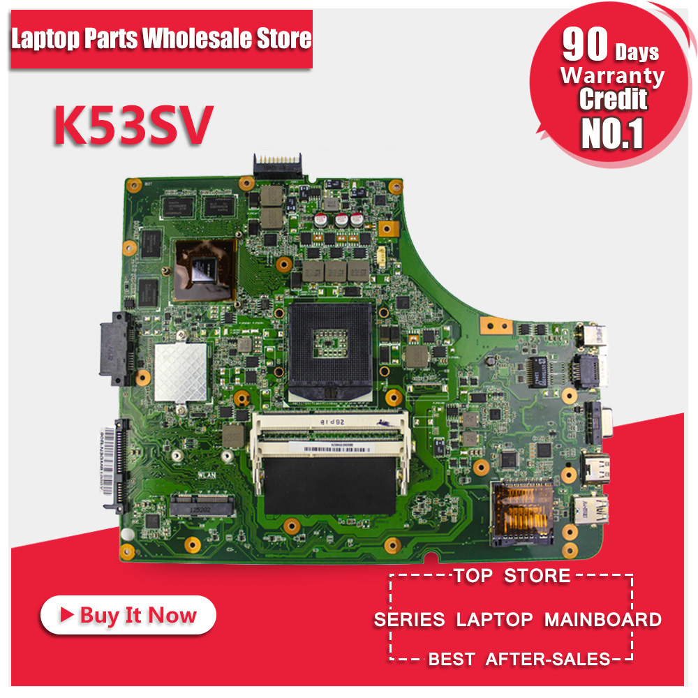For Asus K53SV Series X53S A53S K53SJ K53SC P53S K53SV Motherboard with 8 pcs Graphics Memory Cards laptop