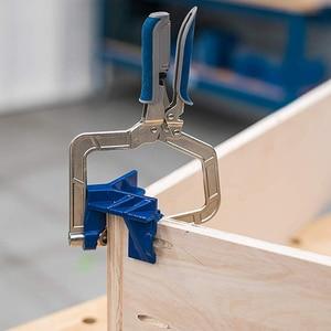 Image 2 - 90 grad Rechtwinklig Ecke Klemme Holzbearbeitung Spann Hand Tool Set 90 Grad Winkel Schreiner Klemme Rechts Winkel Halter